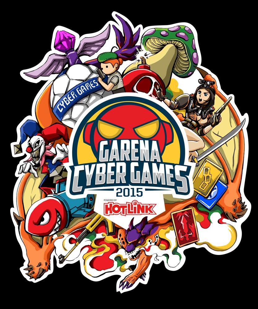 Shirt design games - Garena Cyber Games 2015 Goodie Bag T Shirt Design Rachta Lin A Multi Disciplinary Artist Residing In Singapore