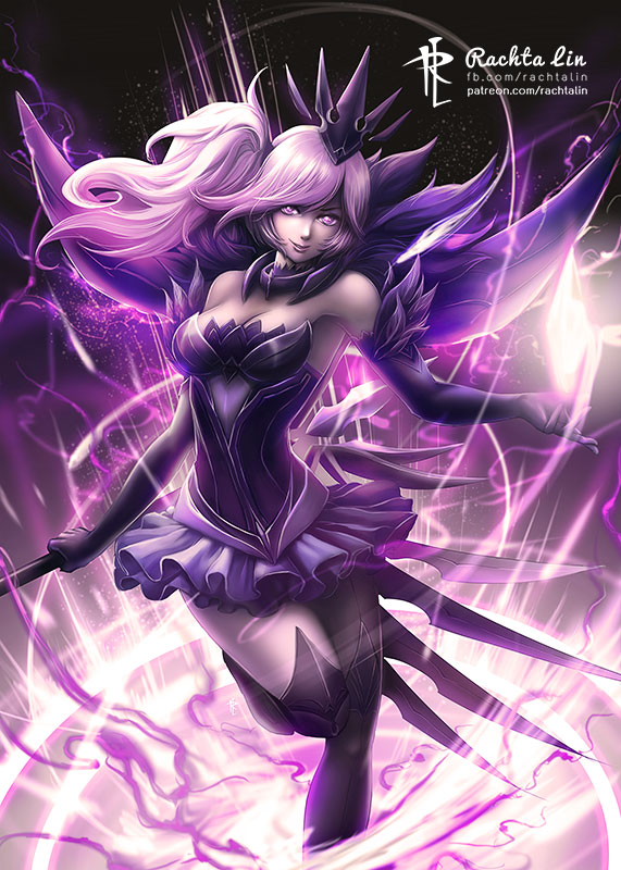Lol League Of Legends Dark Elementalist Lux Rachta Lin A