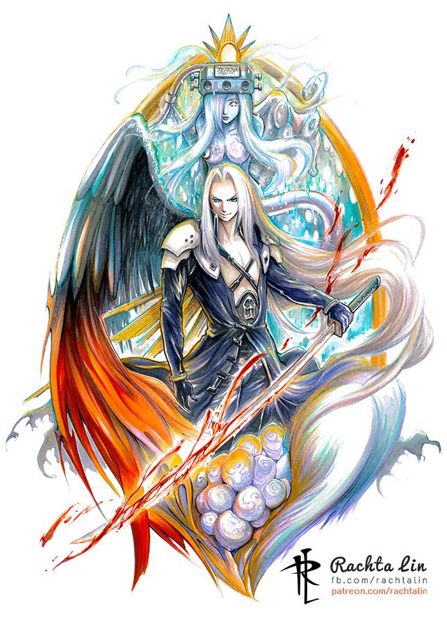 Final Fantasy 7 Sephiroth Rachta Lin A Multi